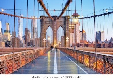 Illustration of the Brooklyn Bridge.